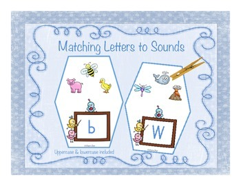 Phonics Clip Cards - Matching Letters to Sounds