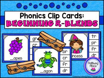 Phonics Clip Cards: R Blends