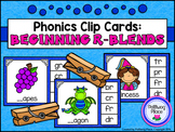 Phonics Clip Cards: R Blends