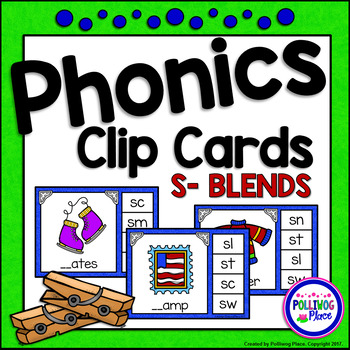 Phonics Clip Cards: S Blends