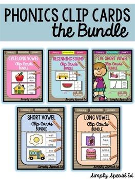 Phonics Clip Cards: THE BUNDLE