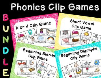 Phonics Clip Games Bundle
