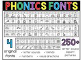 Phonics Clip Art Fonts Vol. 1 (Personal or Commercial use)