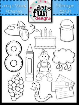 Phonics Clipart: Long a