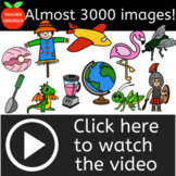 Phonics Clipart Mega Bundle. Almost 3000 Images! From Alphabet to Compound Words