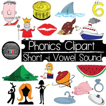 Phonics Clipart - Short I Vowel Sound