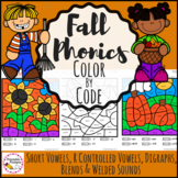 Phonics Color By Code- Fall