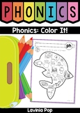 Phonics Color It: digraphs, vowel teams, r-controlled vowels