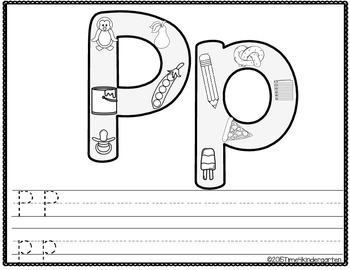 Phonics Coloring Pages and Handwriting