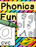 Phonics Coloring Pages for the Whole Year! (No Prep)