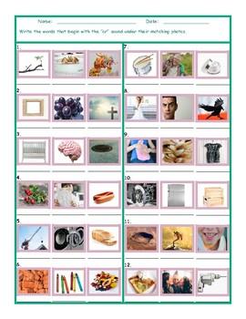 Phonics Consonant Blend CR Photo Worksheet