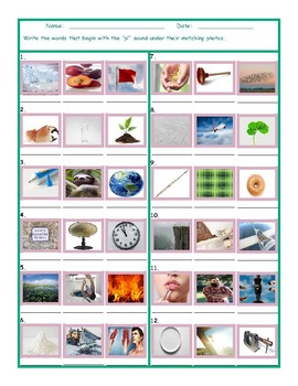 Phonics Consonant Blend PL Photo Worksheet