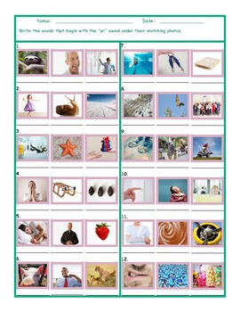 Phonics Consonant Blend PR Photo Worksheet