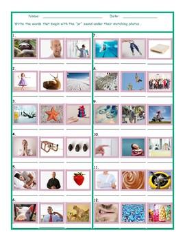 Phonics Consonant Blend PR Photo Worksheet