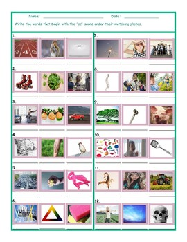 Phonics Consonant Blend SC Photo Worksheet