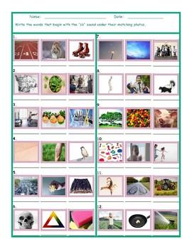 Phonics Consonant Blend SK Photo Worksheet