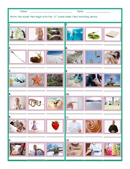 Phonics Consonant Blend SL Photo Worksheet