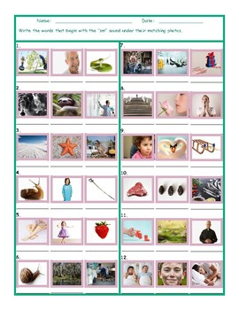 Phonics Consonant Blend SM Photo Worksheet
