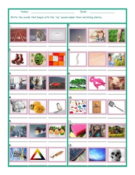 Phonics Consonant Blend SQ Photo Worksheet
