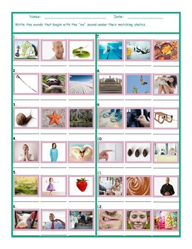 Phonics Consonant Blend SW Photo Worksheet