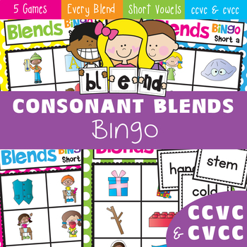 Blends Bingo - Phonics - ccvc and cvcc Words