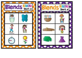 Blends Bingo - Phonics - ccvc and cvcc Words
