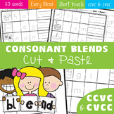 Blends - Consonant Blends Cut and Paste Worksheet Activities