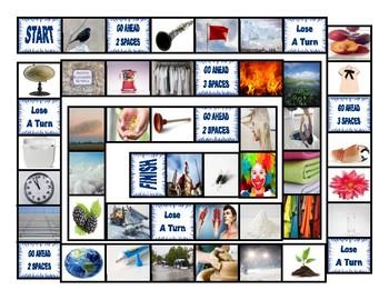 Phonics Consonant Blends bl-cl-fl-gl-pl Photo Board Game