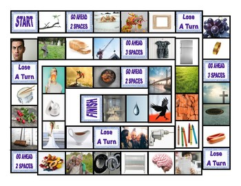 Phonics Consonant Blends br-cr-dr-fr-gr Photo Board Game