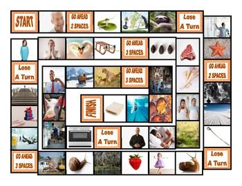 Phonics Consonant Blends sm-sn-sw-sl-pr-st Photo Board Game