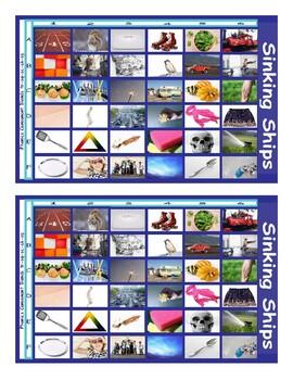 Phonics Consonant Blends tr-sq-sc-sk-sp Photo Battleship Game