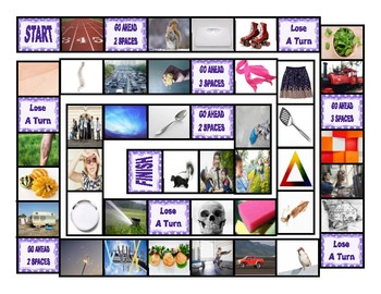 Phonics Consonant Blends tr-sq-sc-sk-sp Photo Board Game