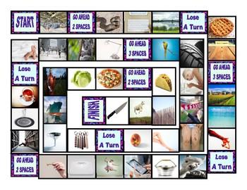 Phonics Consonant Letters f-s-k-l-p-t Photo Board Game