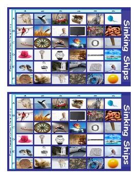 Phonics Consonant Letters h-hw-w-zh-z-y Photo Battleship Game