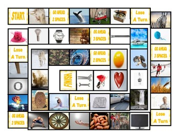 Phonics Consonant Letters h-hw-w-zh-z-y Photo Board Game