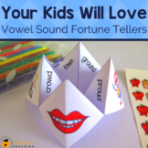 Literacy Cootie Catchers and Fortune Tellers for Vowel Sounds