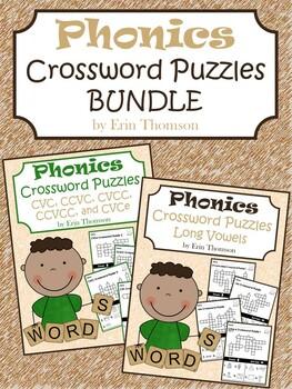 Phonics Crossword Puzzles ~ Bundle