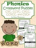Phonics Crossword Puzzles ~ CVC, CVCC, CVCe