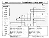 Phonics Crossword Puzzles - Long i