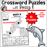 Phonics Crossword Puzzles - R Controlled Vowels - Bossy R Distance Learning