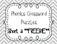 Phonics Crossword Puzzles - Short a **FREEBIE**