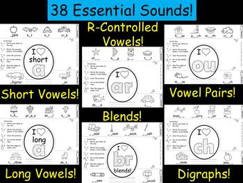 Phonics Crowns - Short Vowels, Long Vowels, Blends, and Digraphs