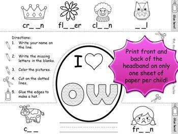Phonics Crowns - Short Vowels, Long Vowels, Blends, and Digraphs