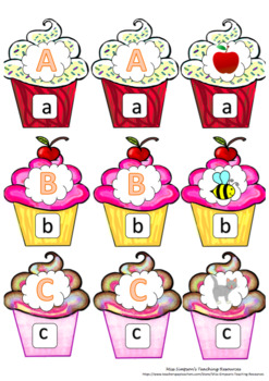 Phonics Cupcakes l Alphabet from A-Z