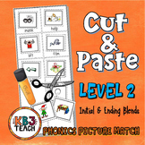 Phonics Cut & Paste Matching Activity (Initial & Ending Consonant Blends)