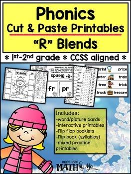 """Phonics Cut & Paste Printables """"R"""" Blends {Winter}"""