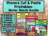 Phonics Cut & Paste Printables: Winter Blends Bundle