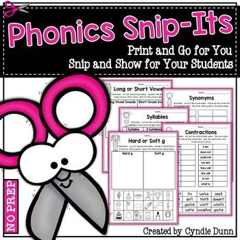 Phonics Snip It Activities