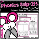 Phonics Snip It Activities