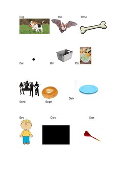 Phonics Cut and Paste Activity